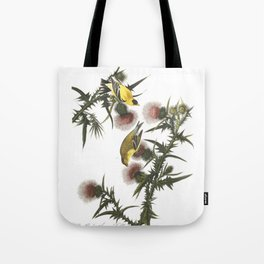 Goldfinch And Thistle Tote Bag