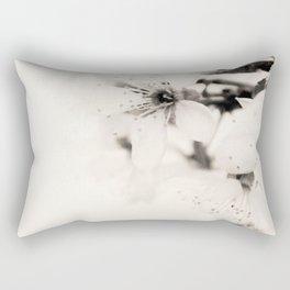Monochrome Blossoms Close-up Rectangular Pillow