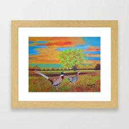 Country side (North Dakota) Framed Art Print