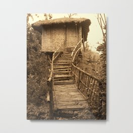 South Indian Treehouse Metal Print