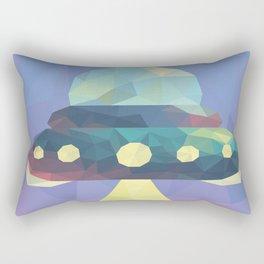 Sunset Spaceship. Rectangular Pillow