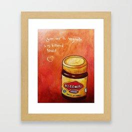 vegemite to my buttered toast Framed Art Print