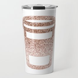 Sparkling rose gold coffee cup Travel Mug