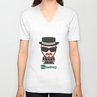 heisenberg V-neck T-shirts featuring Heisenberg by sgrunfo