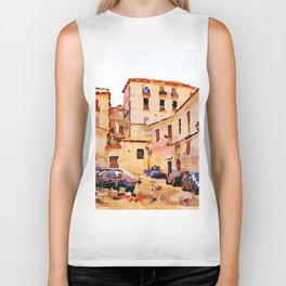 Catanzaro: buildings of the historic center with cars Biker Tank