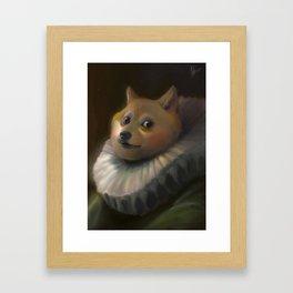 Sir Doge Framed Art Print