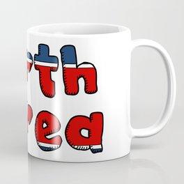 North Korea Font Coffee Mug