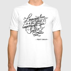 L'imagination Mens Fitted Tee SMALL White