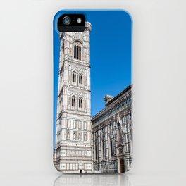 Giotto's Campanile and Cathedral Santa Maria del Fiore - Florence iPhone Case