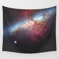 booty Wall Tapestries featuring Galaxy by fly fly away