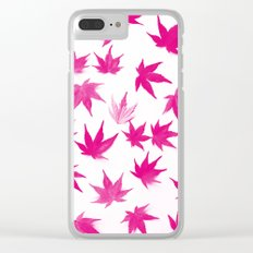 Pink Autumn Leaves Pattern #1 #decor #art #society6 Clear iPhone Case