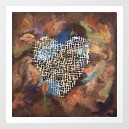 Cross Heart in Chaos Art Print