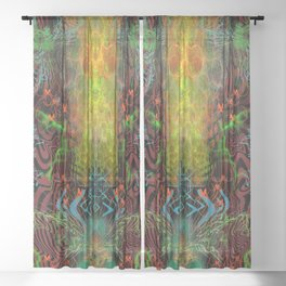 The Warmth of Swamp Thunder Sheer Curtain