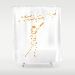 Wishing on a Shooting Shoe Shower Curtain