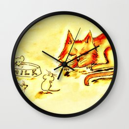 When the Cat's Away Wall Clock