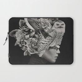 Lady with Birds(portrait) Laptop Sleeve