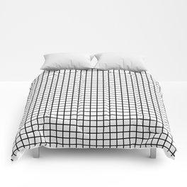 Grid_Black & White_Minimalist Art Comforters