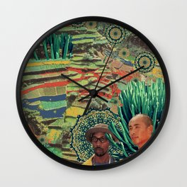 Green Lands Wall Clock
