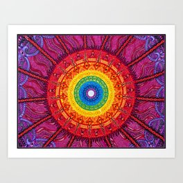 Eye of the Chakra Storm Art Print