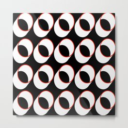 Tubes on Black Metal Print