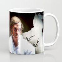 true detective Mugs featuring True Detective by Sunli
