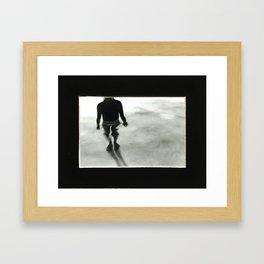 Black and White Water  Framed Art Print