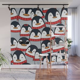 Merry Christmas Penguins! Wall Mural