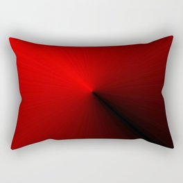 Leader - Red and Black Rectangular Pillow
