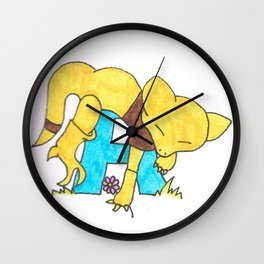 A is for Abra Wall Clock