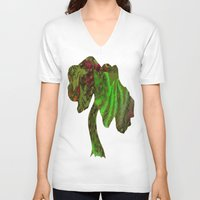 forrest V-neck T-shirts featuring Rain Forrest by Softmyst