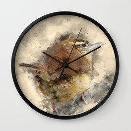 Carolina Wren Wall Clock