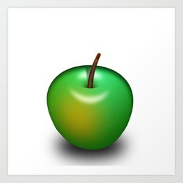 An apple a day keeps the doctor away Art Print