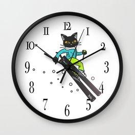 Ski action Wall Clock