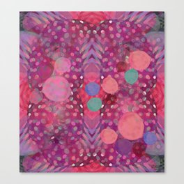 """""""Abstract polka dots in pink and pastel colors"""" Canvas Print"""