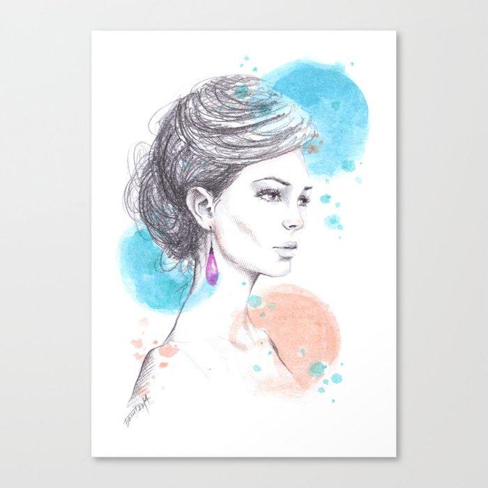 Earring Canvas Print