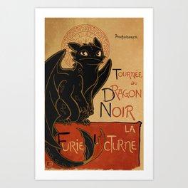 Le Dragon Noir Art Print