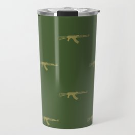 AK-47 Gun Pattern Army Colors Travel Mug