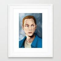 stiles stilinski Framed Art Prints featuring Stiles Stilinski by Terry Blas