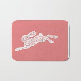 Alice in wonderland - pink Bath Mat