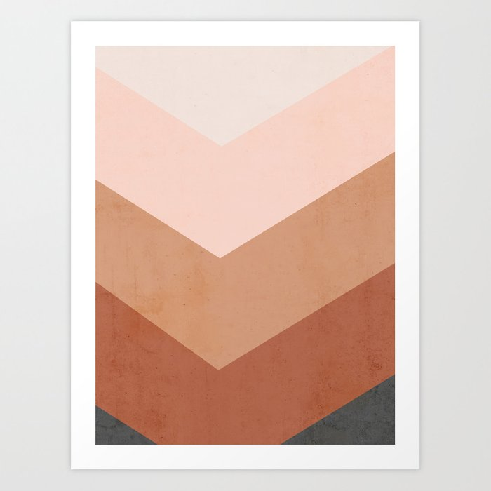 Fall Palette Geometry Art Print