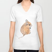 mouse V-neck T-shirts featuring Mouse by Lindsay Guiher