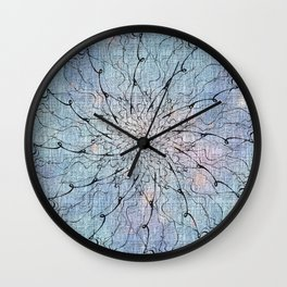 Popstar Blue on canvas Wall Clock