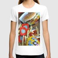 junk food T-shirts featuring Junk Food by Renatta Maniski-Luke