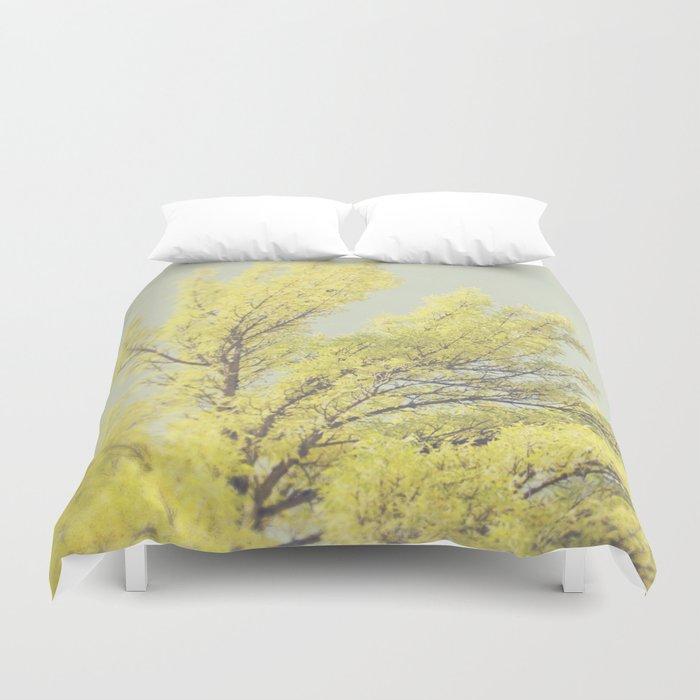 Yellow Tree Duvet Cover