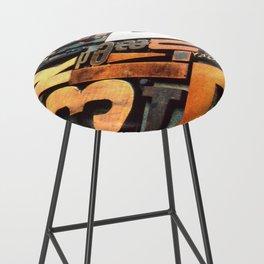 3B - Typography Photography™ Bar Stool