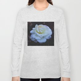 Spaced Out White Rose Long Sleeve T-shirt