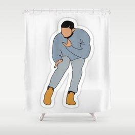 Drake Dancing Hip Hop Shower Curtain