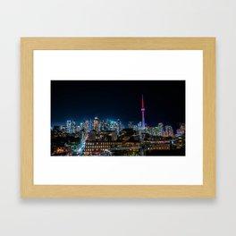 Vibrant Toronto Framed Art Print