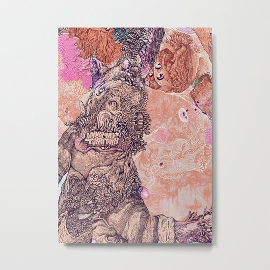 pink dark nature Metal Print