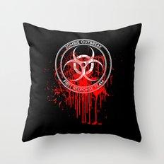 Zombie Outbreak First Response Team Throw Pillow